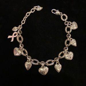 Brighton Power of Pink Charm Bracelet